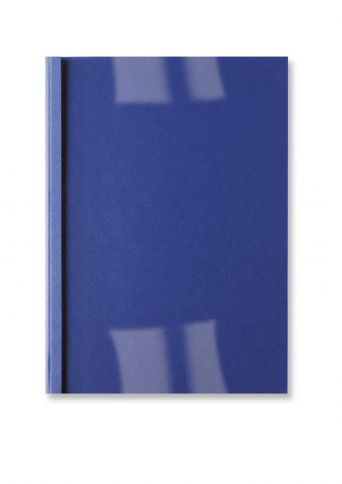 GBC LeatherGrain Thermal Binding Covers R Blue (Pack of 100) IB451003