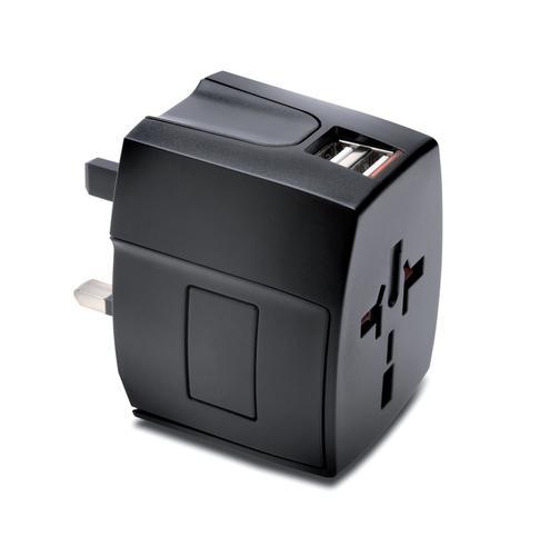 Kensington International Travel Adapter USB 2,4A Black