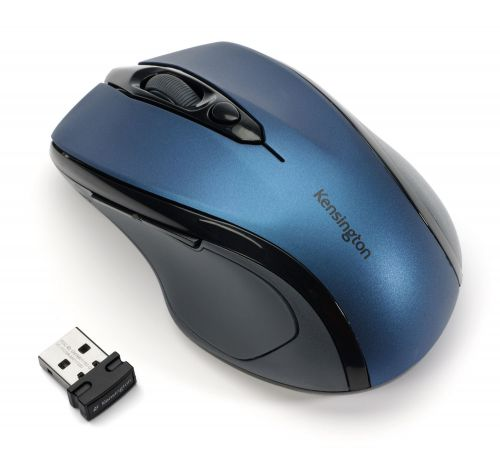 Kensington Pro Fit Mid-Size USB Blue Wireless Mouse K72421WW