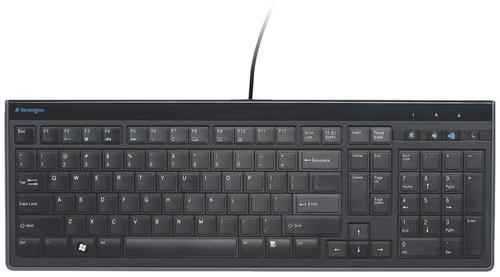 Kensington Advance Fit Slimtype Keyboard Tilting USB Wired 1900mm Lead K72357UK