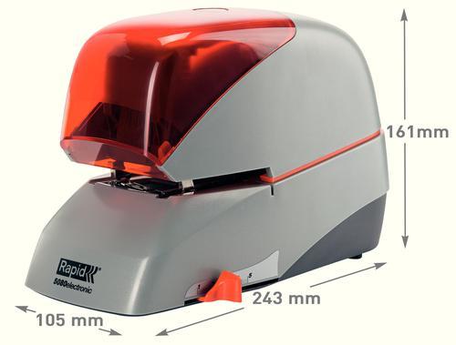 Rapid Supreme Electric Stapler R5080e Silver/Orange