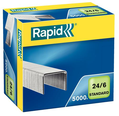 Rapid Standard Staples 24/6  (5000) - Outer carton of 10