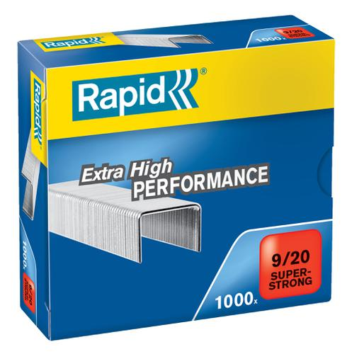 Rapid SuperStrong Staples 9/20  (1000) - Outer carton of 5