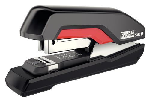 Rapid Supreme Halfstrip Stapler S50 Black/Red