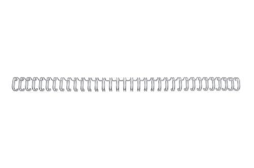 GBC A4 34-Loop Binding Wires 6mm Silver (Pack of 100) RG810497