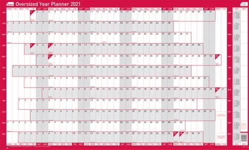 Sasco Unmounted Oversized Year Planner 2021 BX10