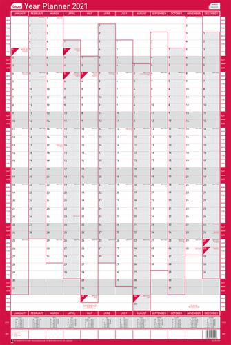 Sasco Unmounted Year Planner Portrait 2021 - Outer carton of 10