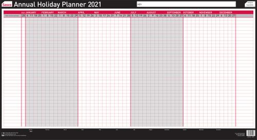 Sasco Annual Holiday Planner 2021 BX10