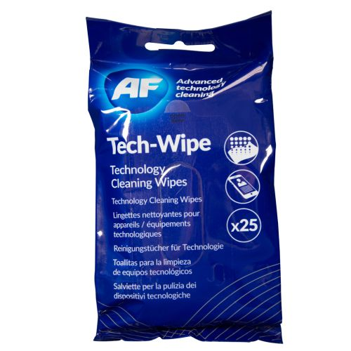 AF Tech Wipes Flat Pack PK25