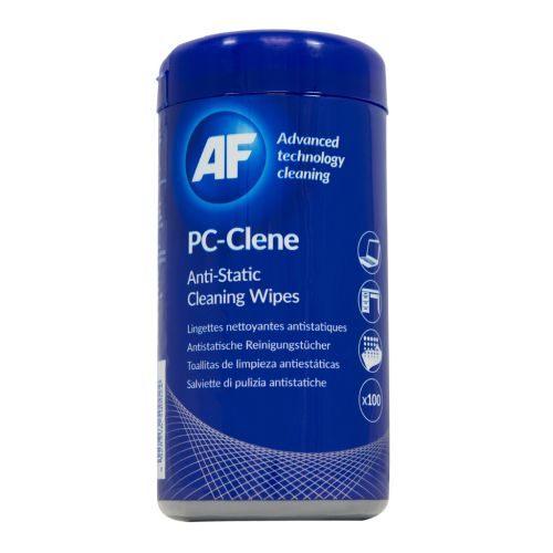 AF PC-Clene Anti-Static Cleaning Wipes Tub (Pack of 100) PCC100