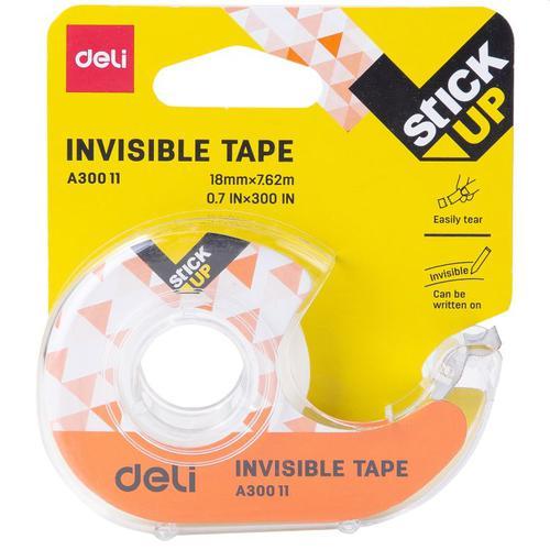 Deli Invisible Tape 18mm X 7.6m Card Disp
