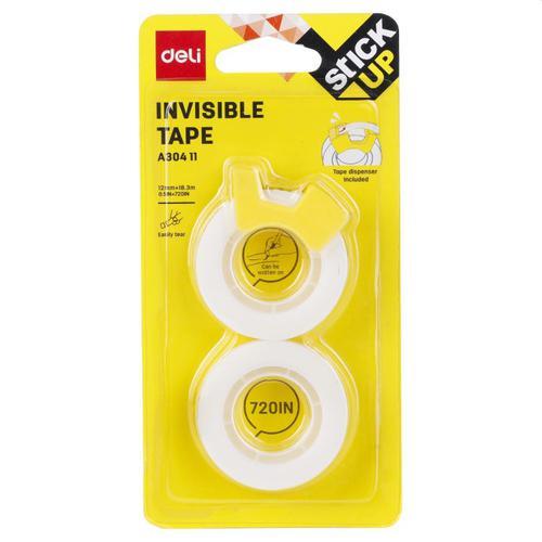 Deli Invisible Tape 12mm X 18m Bx12