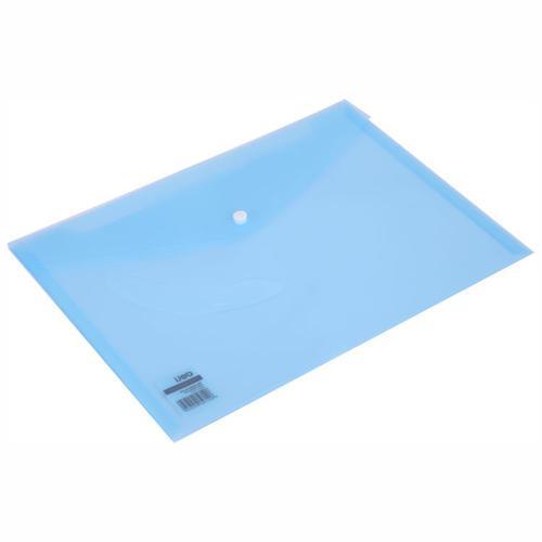 Deli Button Wallet 160mic A4 Aqua Pk10