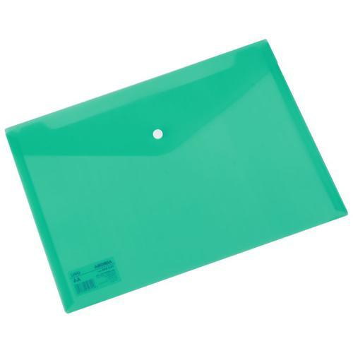 Deli Button Wallet 160mic A4 Green Pk10