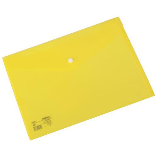 Deli Button Wallet 160mic A4 Yellow Pk10