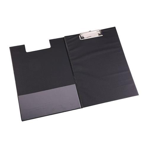 Deli Plastic Clipboard Foldover A4 Black
