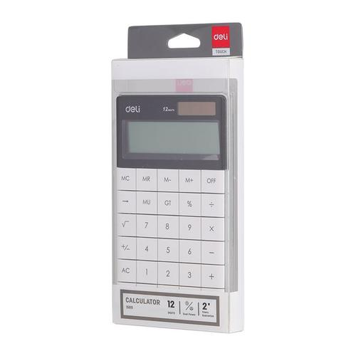 Deli Semi Desk Calculator 12 Digit White