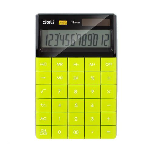 Deli Semi Desk Calculator 12 Digit Green