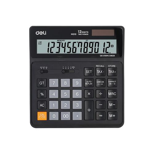 Deli Desk Calculator 12 Digit Black