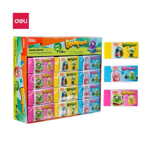 Bumpees Pvc Eraser Assorted Colours Box36