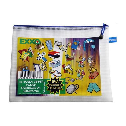 Exxo Mesh Bag A4++ 360x275mm Pack 5
