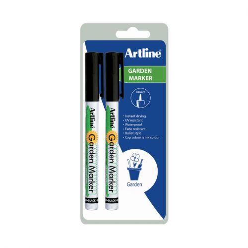 Artline Garden Marker Black Twin Pack Bx12