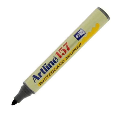 Artline 157 Dry Wipe Marker Bullet Black