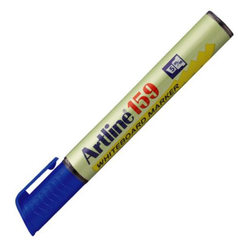 Artline 159 Dry Wipe Marker Chisel Blue