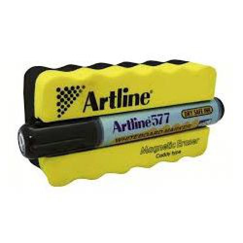 Artline Magnetic Groove Eraser Yellow