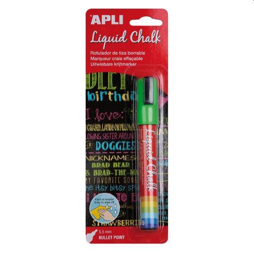 Apli Chalk Marker 5mm Green carded