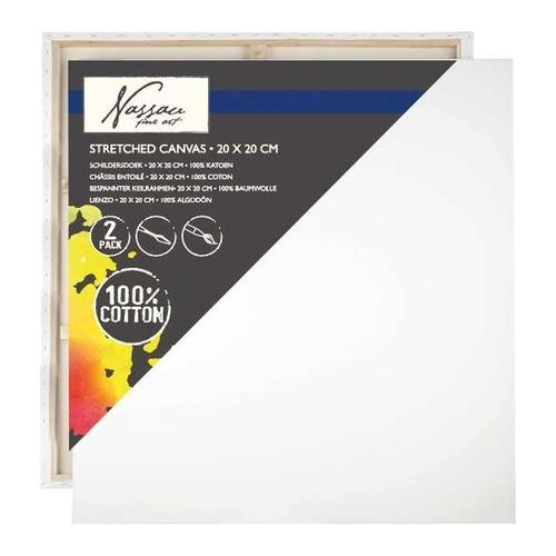 Fine Art canvas 20x20cm x17mm pack of 2