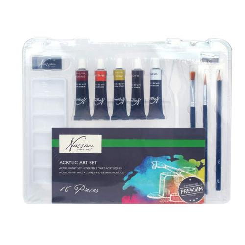 Fine Art Acrylic Paint Set 16 Pcs