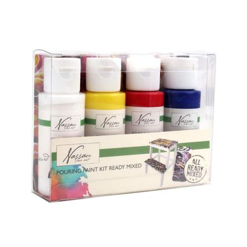 Fine Art Readymix Pouring Paint Set 4x59ml