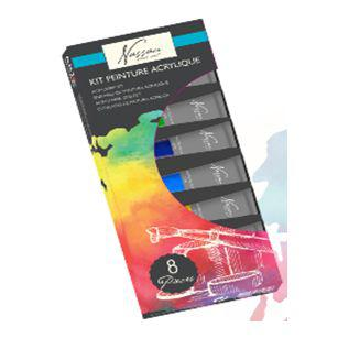 Fine Art Acrylic Paint Set 8x12ml Tubes