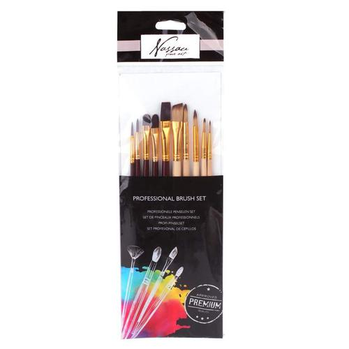 Fine Art Professional Brush Set 10 Pcs