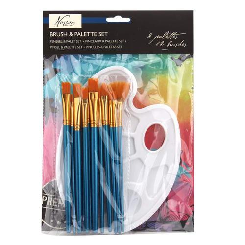 Fine Art Brush And Pallette Set