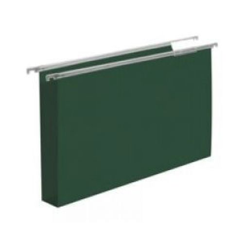 Cartesio Silver Suspension File Foolscap Green 30mm 50s
