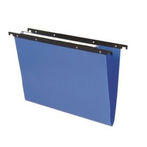 Cartesio PP Suspension File Foolscap 15mm Blue 25s