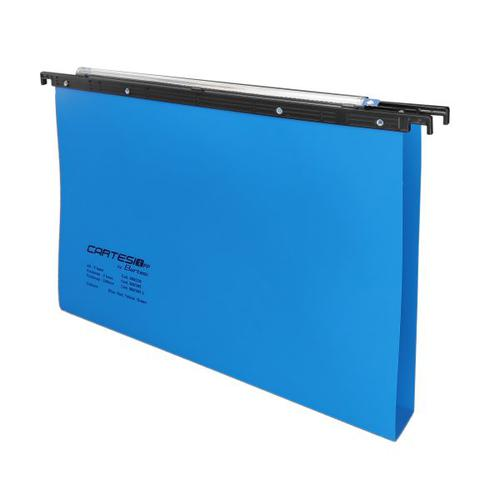 Cartesio PP Suspension File Foolscap 50mm Blue 25s