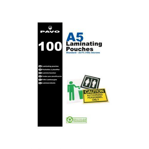 Pavo Laminating Pouches, A5 250 micron