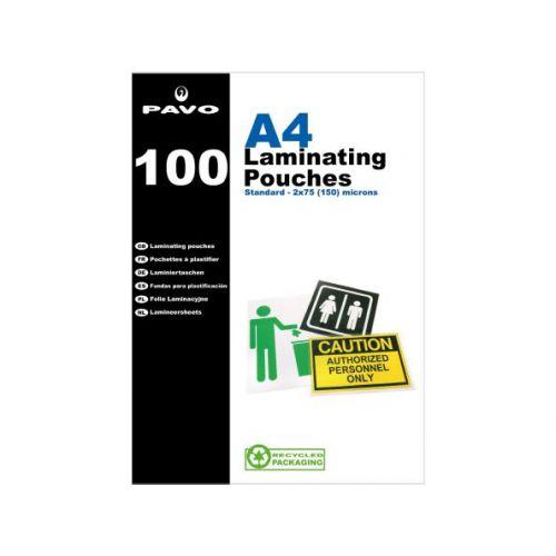 Pavo Laminating Pouches, A4 150 mic Bx100