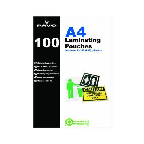 Pavo Laminating Pouches, A4 350 micron