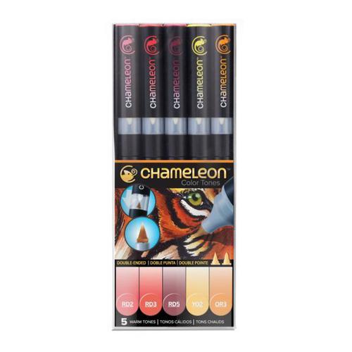 Chameleon 5 Pen Set Assorted Warm Tones