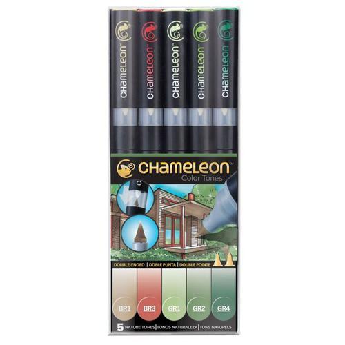 Chameleon 5 Pen Set Assorted Nature Tones