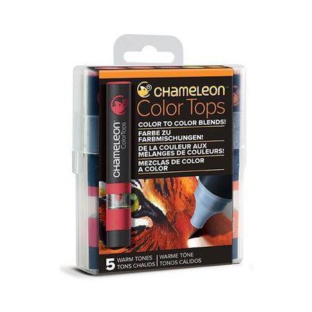Chameleon 5 Colour Top Set Assorted Warm Tones