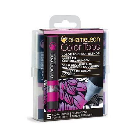 Chameleon 5 Colour Top Set Assorted Floral Tones