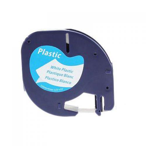 Letratag Cmpa Tape 12mm Black/White Plastic