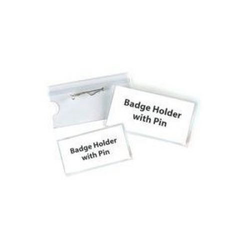 Pavo Security Name Badge With Safety Pin 40x75mm Pack 100 Code 8009299