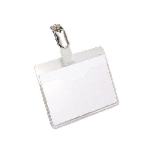 Pavo Visitors Name Badge, 60x90mm, Plastic Clip