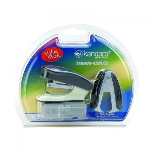 Kangaro Trendy Stapler, Remover and Staple set